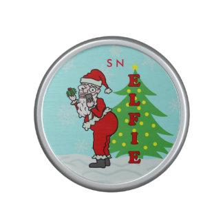 Funny Christmas Santa Elfie Monogram Bluetooth Speaker