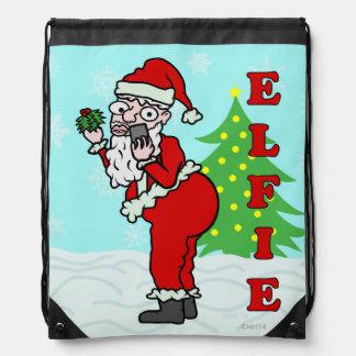Funny Christmas Santa Elfie Backpacks