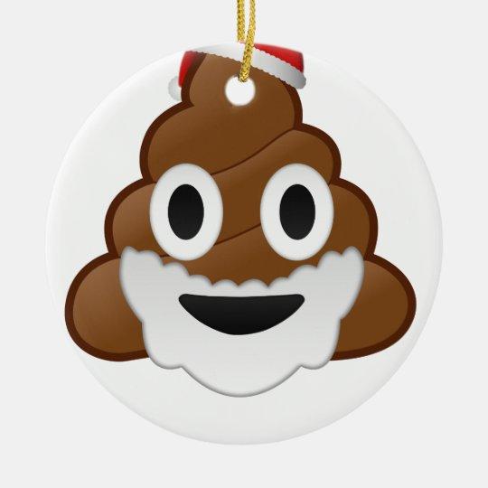 Funny Christmas Santa Poop Emoji Christmas Ornament