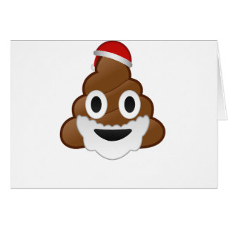 Funny Christmas Santa Poop Emoji Greeting Card