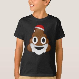 Funny Christmas Santa Poop Emoji T-Shirt