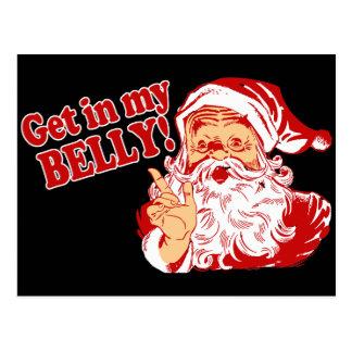 Funny Christmas Santa Post Cards