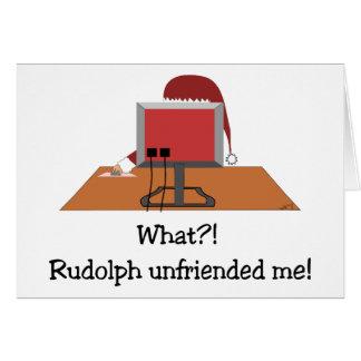Funny Christmas - Santa Unfriended by Rudolph Card