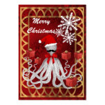 Funny Christmas Santa vintage steampunk octopus Pack Of Chubby Business Cards