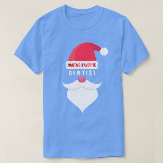 Funny Christmas Santa's Favorite Dentist Custom T-Shirt