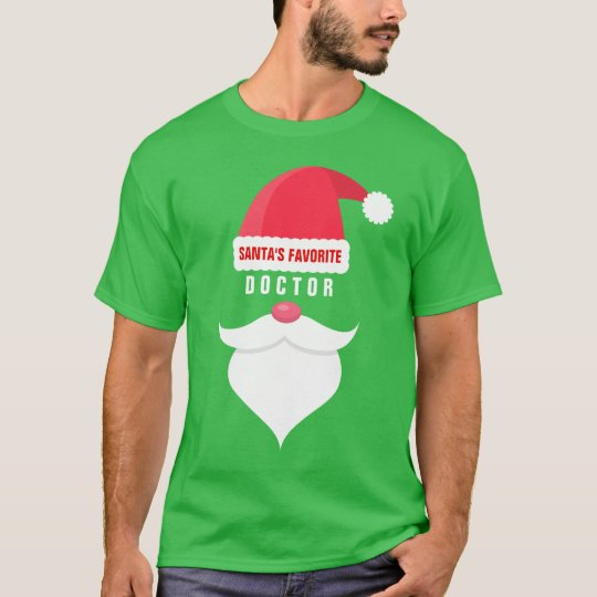 Funny Christmas Santa's Favourite Doctor Custom T-Shirt