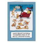 Funny Christmas: Santa's Sleigh Cats Card