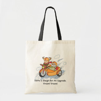 Funny Christmas, Santa's sleigh upgraded Canvas Bags