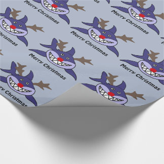 Funny Christmas Shark Reindeer Wrapping Paper