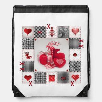 Funny Christmas Shoe bag with songs & videos Drawstring Bag