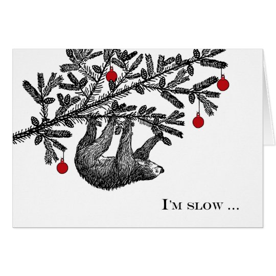 Funny Christmas Sloth, Merry Slothmas Card