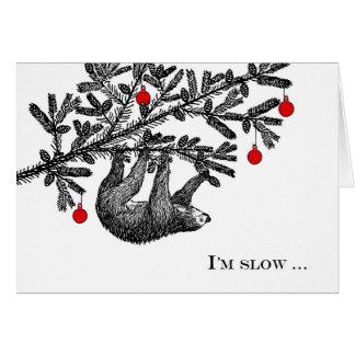Funny Christmas Sloth, Merry Slothmas Greeting Card