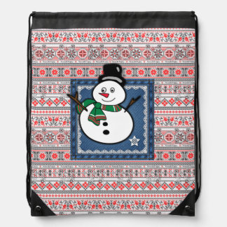 Funny Christmas snowman bag with funny videos Backpack