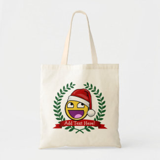 Funny Christmas Style Awesome Face Meme Budget Tote Bag