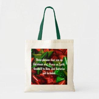 Funny Christmas.. Budget Tote Bag