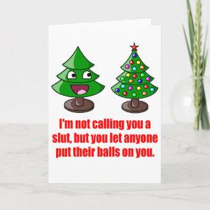 Funny Christmas Sayings.Funny Christmas Tree Holiday Card