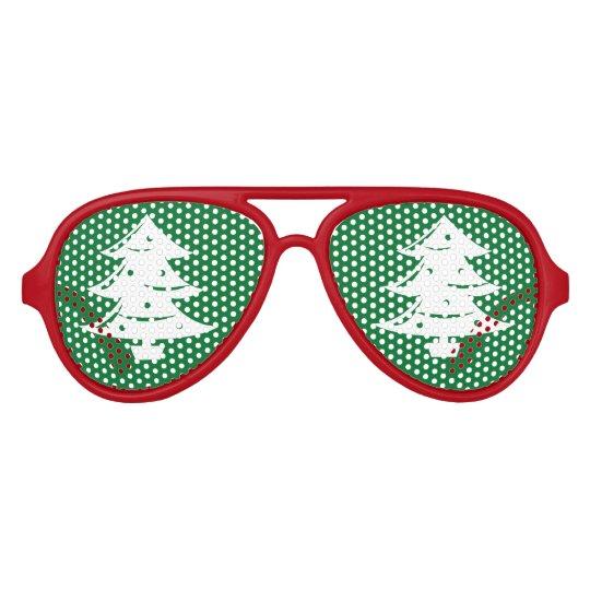 Funny Christmas tree party shades Xmas sunglasses
