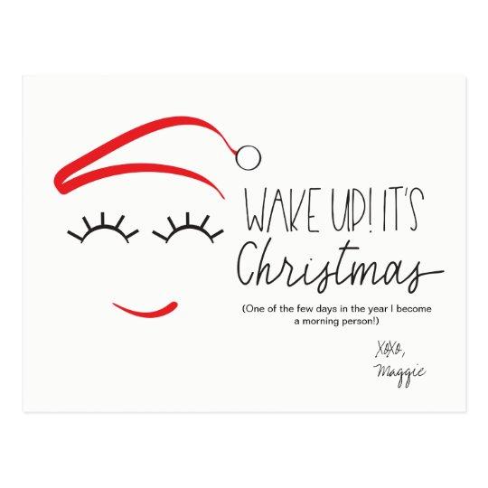 "Funny Christmas, ""Wake Up It's Christmas"" Lashes"