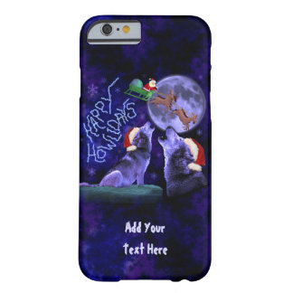 Funny Christmas Wolf Pun Happy Howlidays Custom Barely There iPhone 6 Case