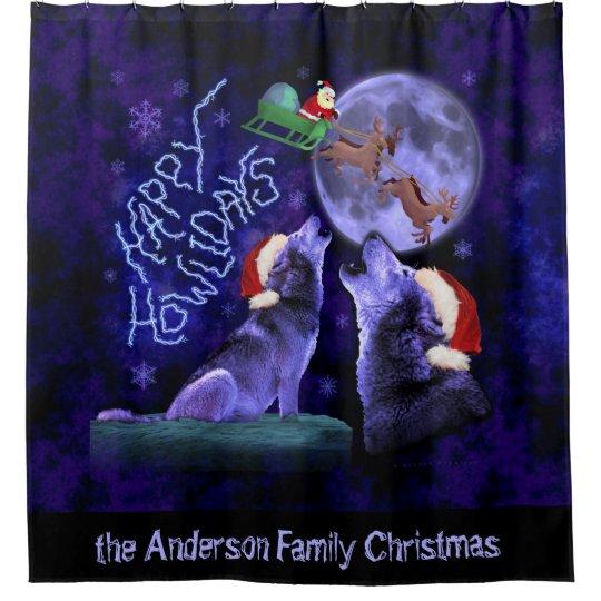 Funny Christmas Wolves Happy Howlidays | Custom Shower