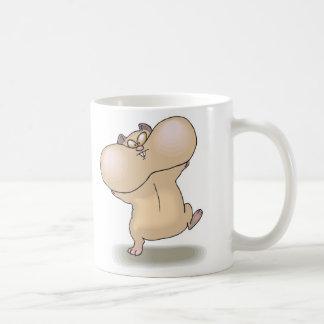 funny chubby cheeks hamster coffee mug