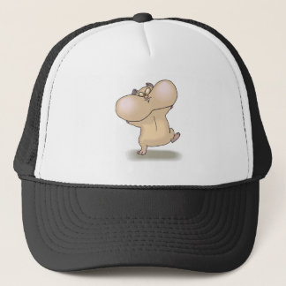 funny chubby cheeks hamster trucker hat