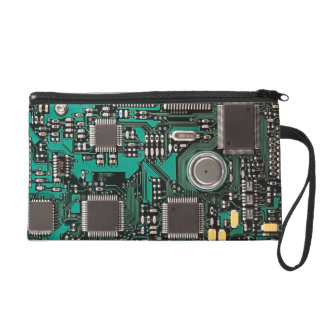 Funny circuit board wristlet