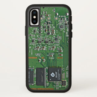 Funny circuit board iPhone x case