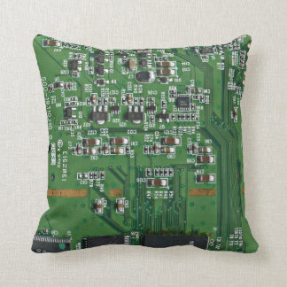 Funny circuit board throw pillow