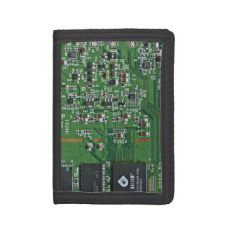 Funny circuit board trifold wallet