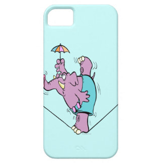 funny circus elephant on tightrope case for the iPhone 5
