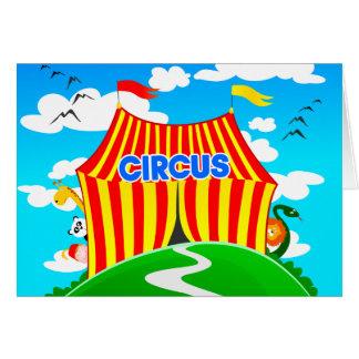 Funny circus, greeting card
