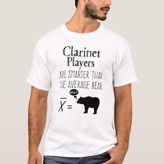 Funny Clarinet T-shirt - Average Bear