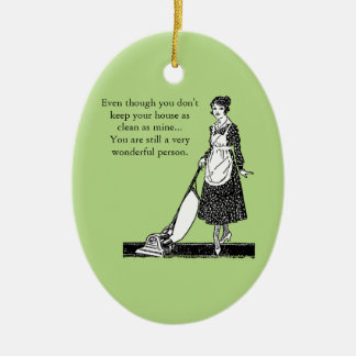 Funny Clean House - Customize Christmas Ornament