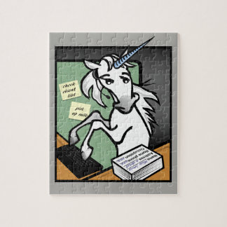 FUNNY CLERICAL UNICORN PUZZLE