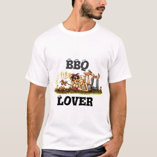 Funny Clip Art BBQ LOVER T-Shirt