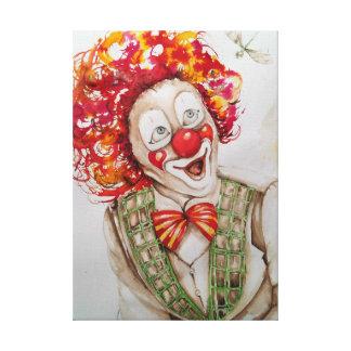 funny clown canvas print