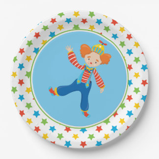 Funny Clown   Circus Theme 9 Inch Paper Plate
