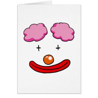 Funny clown face card