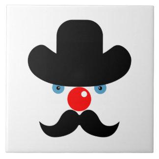 Funny clown face tile