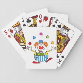 Funny Clown Juggling Playing Cards