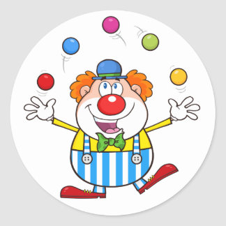 Funny Clown Juggling Stickers