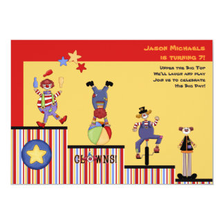 Funny Clowns Party Invitation