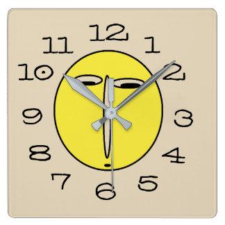 Funny Clueless Face Wall Clock