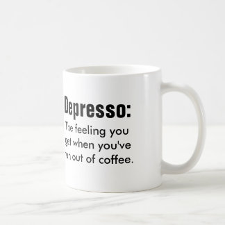 Funny coffe quote: Depresso Coffee Mug