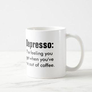 Funny coffe quote: Depresso Basic White Mug