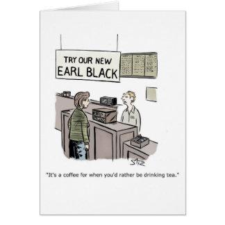 Funny coffee and tea greeting card