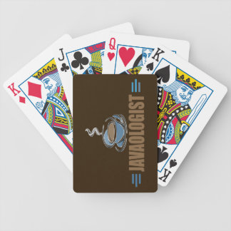Funny Coffee Bicycle Playing Cards