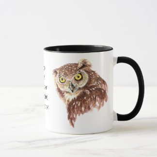 Funny Coffee, Caffeine, Sleep Owl with Attitude