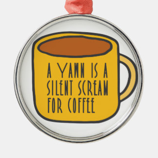 Funny coffee christmas ornament